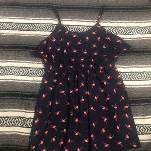 Elle navy flamingo dress